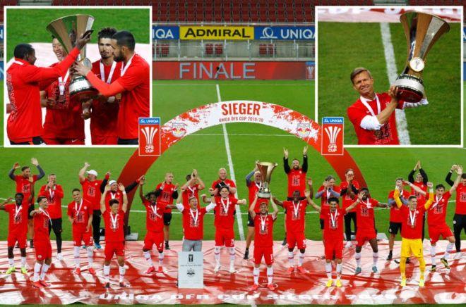 Hy hữu đội nâng cúp vô địch mùa Covid-19: Tự lấy huy chương, không khán giả - 1