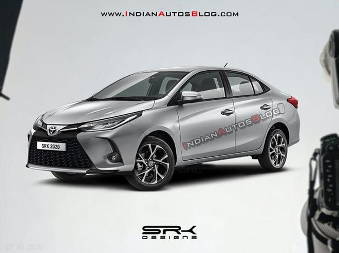 Toyota Vios 2021 facelift lộ hình ảnh phác thảo, diện mạo thể thao và cá tính hơn - 1