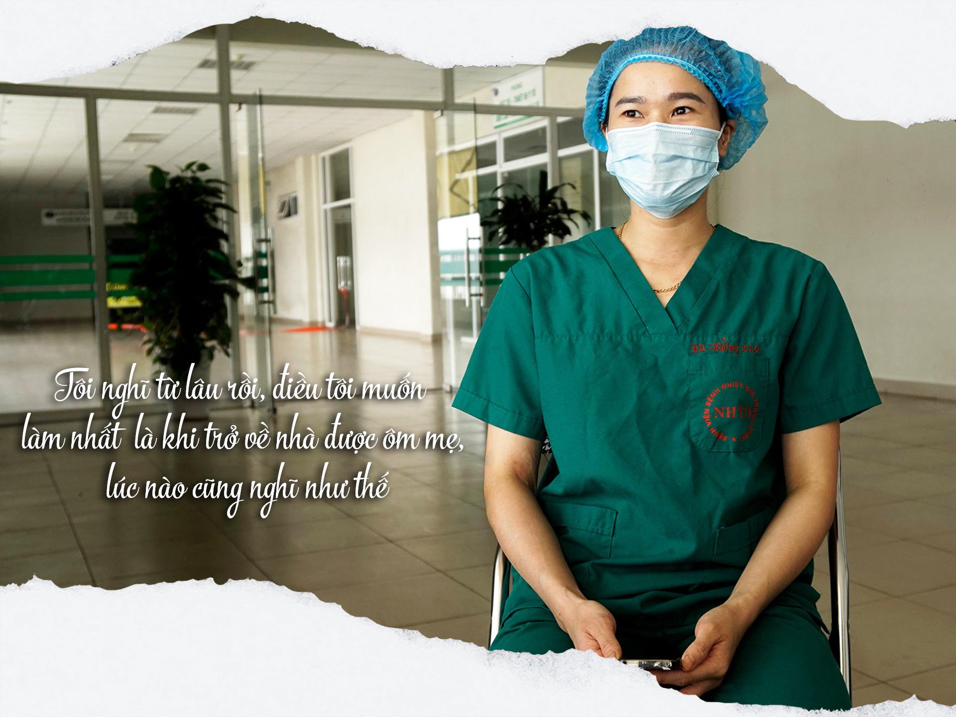 """Nữ điều dưỡng chăm sóc bệnh nhân COVID-19 nặng nhất miền Bắc trước ngày về thăm nhà: """"Tôi muốn ôm mẹ đầu tiên"""" - 6"""