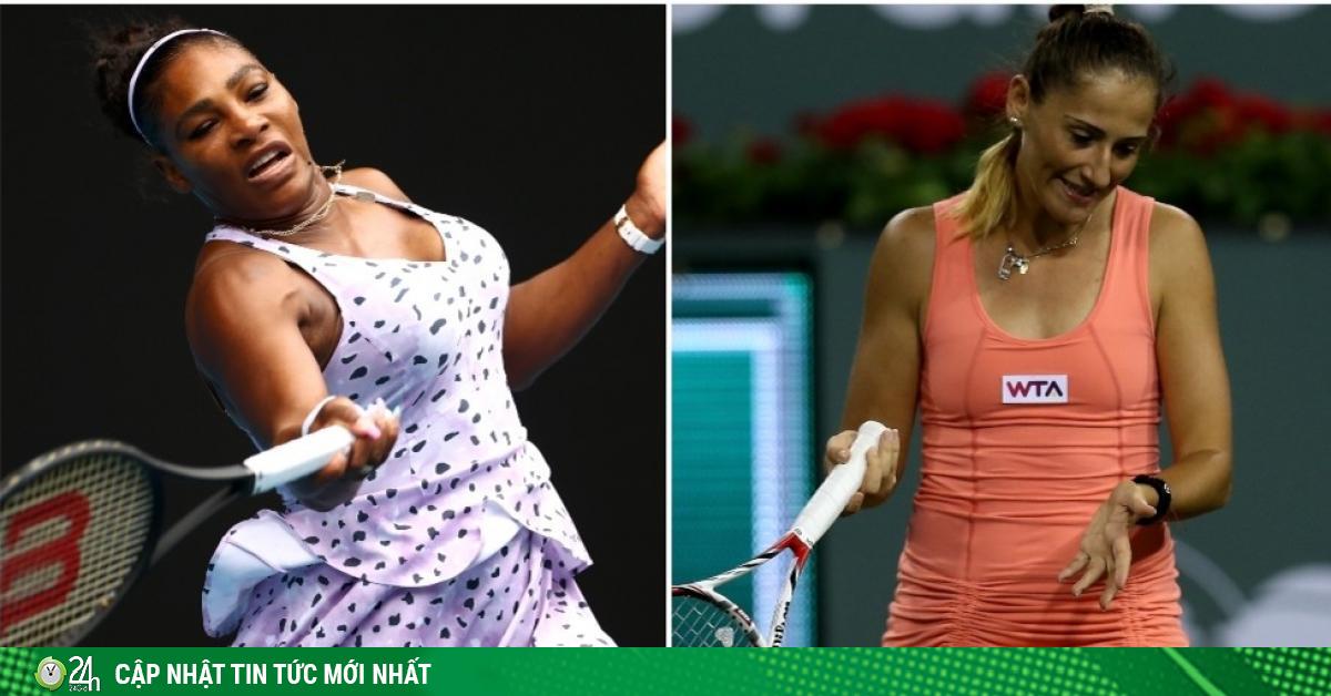 Nữ tay vợt sửng sốt khi nhìn thấy Serena Williams không quần áo