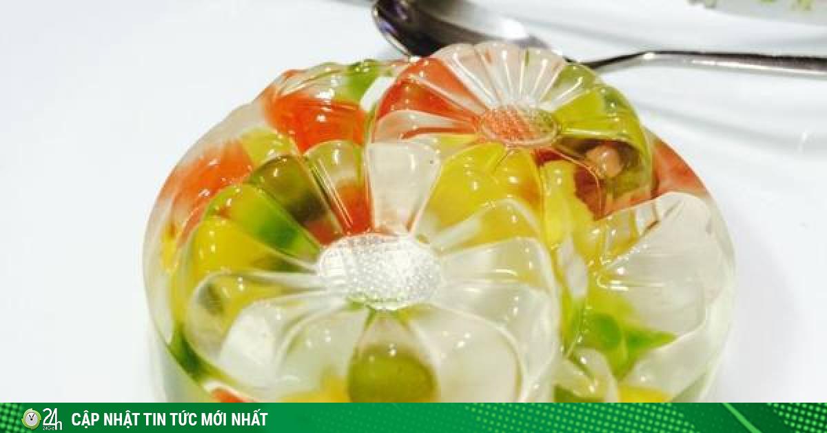Món ngon mùa hè: Thạch hoa quả trong suốt, mát lạnh