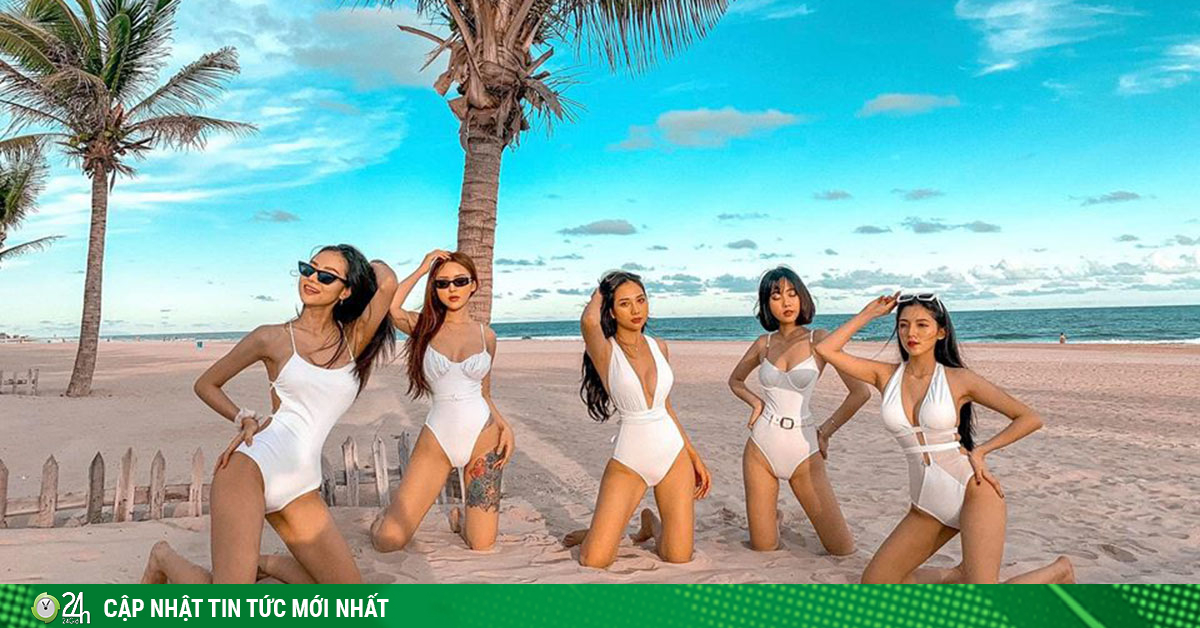 Hội bạn thân hot girl diện bikini khoe vóc dáng nóng bỏng đẹp như siêu mẫu