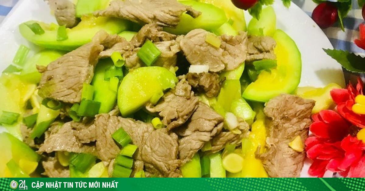 Ngọt ngon bí ngô non xào thịt bò rất đơn giản mà ngon cơm