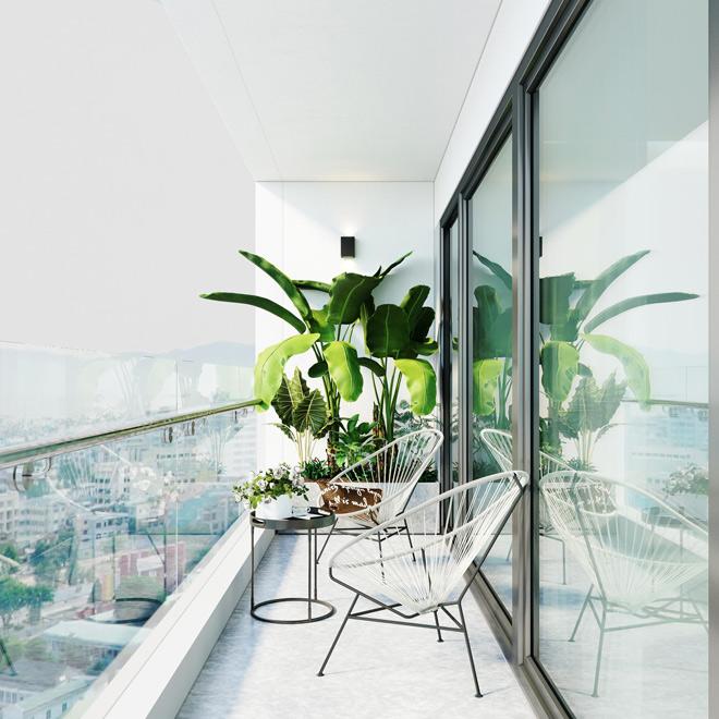 Ý tưởng thiết kế ban công độc đáo cho chung cư cao cấp - 3