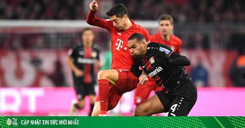 Trực tiếp bóng đá Leverkusen - Bayern Munich: Lewandowski đấu thần đồng 20 tuổi