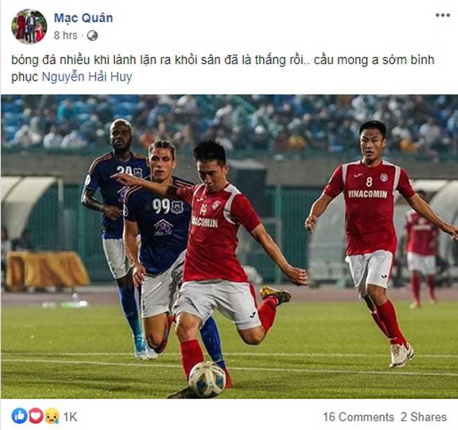 Bàng hoàng tiền vệ Hải Huy gãy chân: Làng bóng đá Việt chia sẻ thế nào? - 3