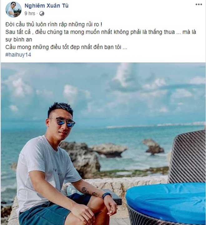 Bàng hoàng tiền vệ Hải Huy gãy chân: Làng bóng đá Việt chia sẻ thế nào? - 2