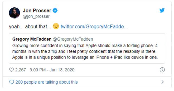 Xác nhận Apple đang sản xuất iPhone có màn hình gập lại - 2