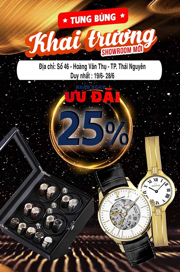 Tuần lễ khai trương Đăng Quang Watch Thái Nguyên – Giảm giá cực lớn lên đến 25% - 1