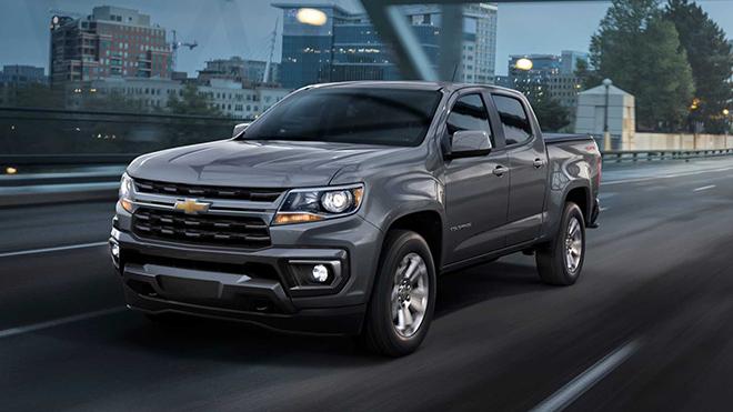 Chevrolet Colorado 2021 lộ ảnh chính thức cấu hình tiêu chuẩn