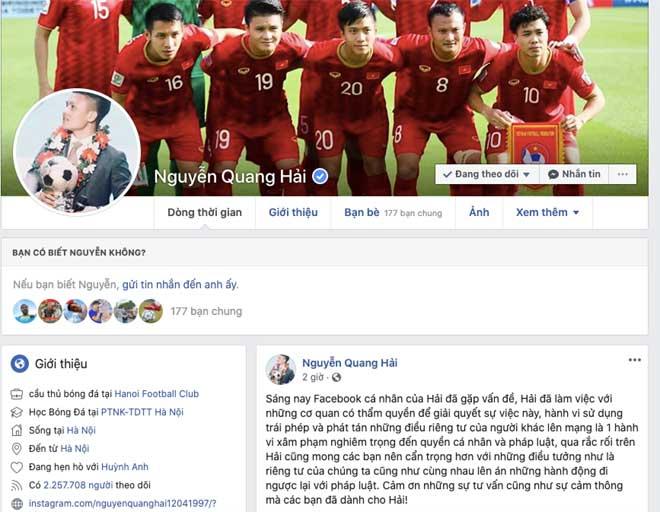 """Quang Hải bị hack facebook lộ tin nhắn """"nhạy cảm"""" như thế nào? - 2"""