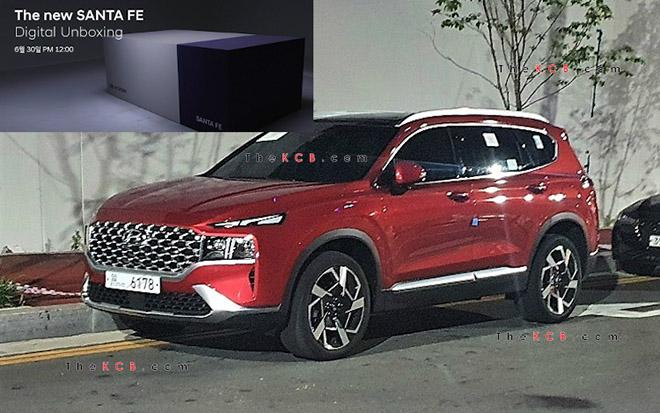 Hyundai SantaFe 2021 xuất hiện trên phố, đếm ngược giờ ra mắt toàn cầu - 1