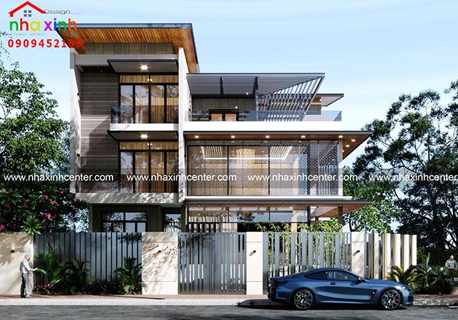 Những mẫu thiết kế biệt thự đẹp xu hướng 2021 - 1