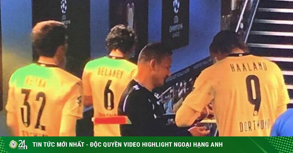 Man City thắng Dortmund cúp C1: Trọng tài gây sốc xin chữ ký Haaland, Pep lên tiếng