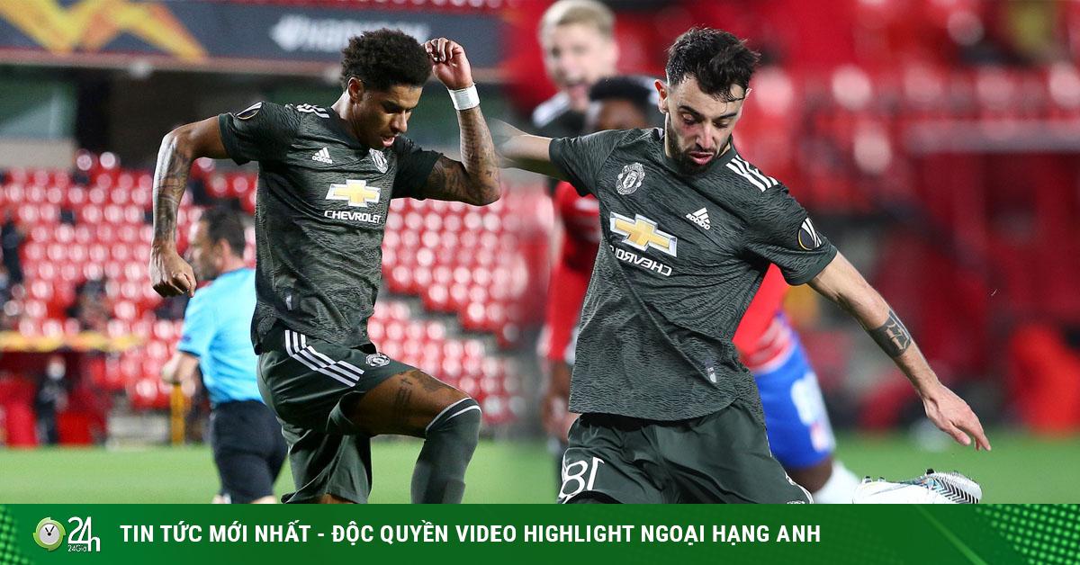 Fernandes bị tố ăn vạ kiếm 11m ở Europa League, Rashford tái hiện kỷ lục