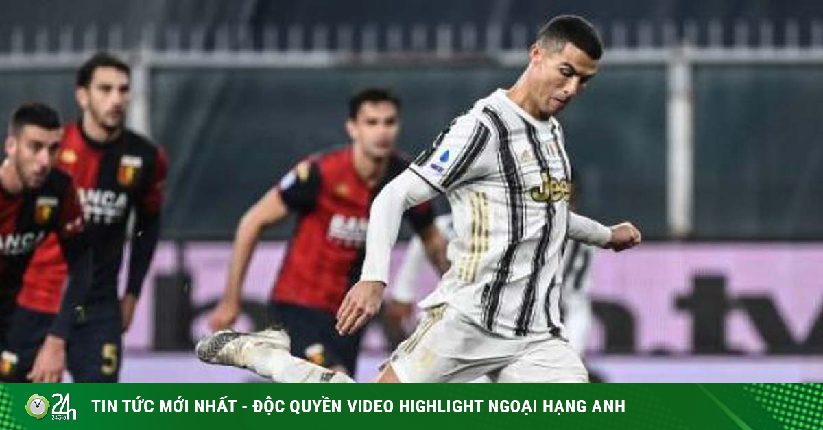 Trực tiếp bóng đá Juventus - Genoa: Ronaldo xây chắc vị thế Vua phá lưới