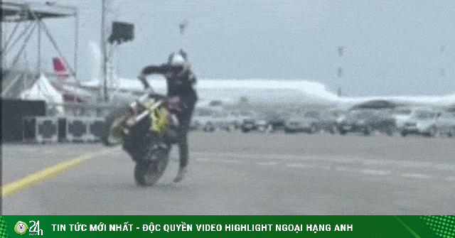Video: Hào hứng biểu diễn quay xe môtô và cái kết bất ngờ