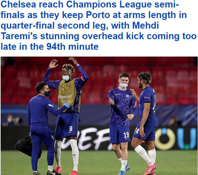 """Chelsea vào bán kết Cúp C1, Tuchelđón """"mưa"""" lời chúc từ truyền thông Anh - 1"""