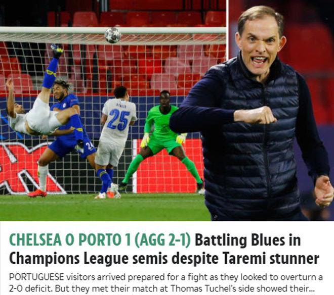 """Chelsea vào bán kết Cúp C1, Tuchelđón """"mưa"""" lời chúc từ truyền thông Anh - 3"""