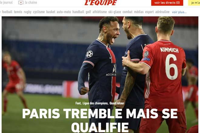 PSG vượt ải Bayern Munich: Báo Pháp vừa mừng vừa run, báo Đức tiếc nuối - 1
