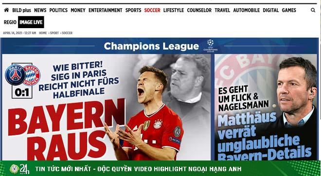 PSG vượt ải Bayern Munich: Báo Pháp vừa mừng vừa run, báo Đức tiếc nuối