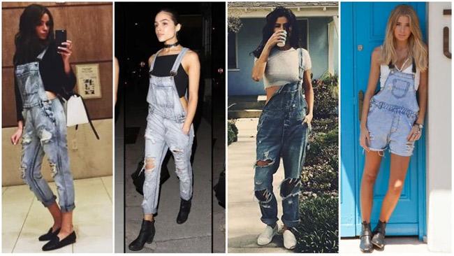 Những kiểu mặc đẹp với quần yếm - hình ảnh 11