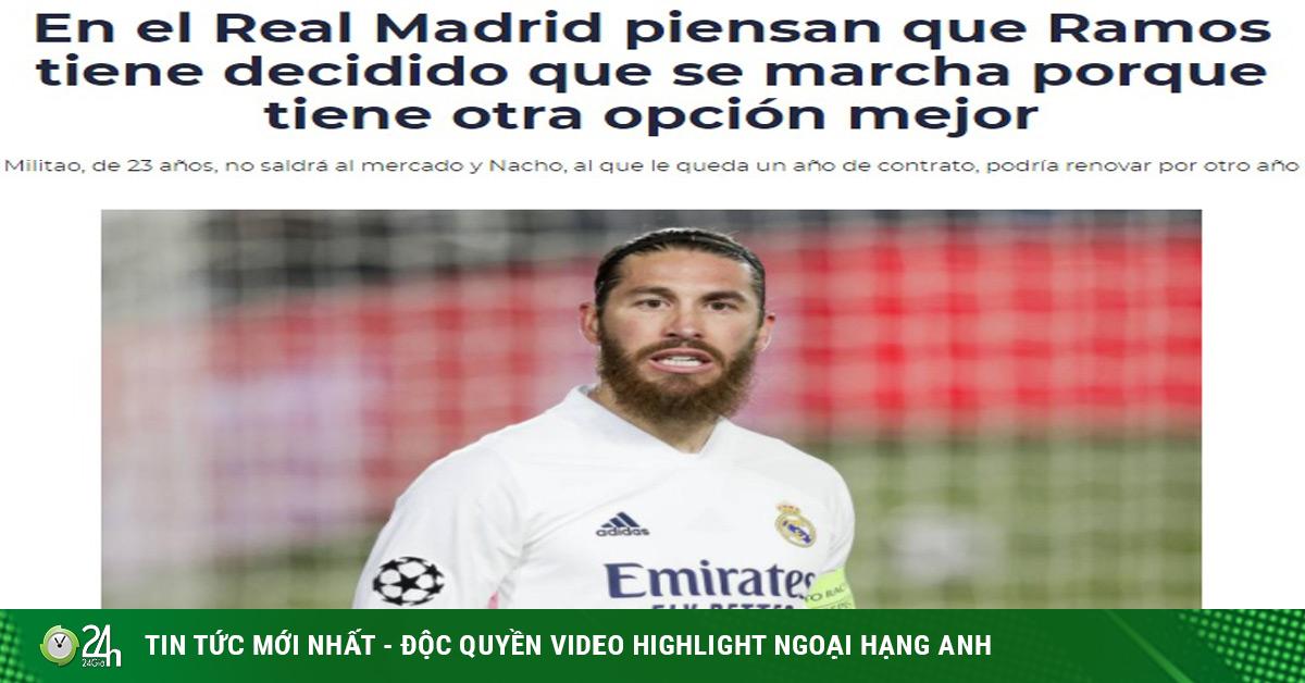 Ramos chốt tương lai, báo Tây Ban Nha loan tin đã chia tay đồng đội tại Real