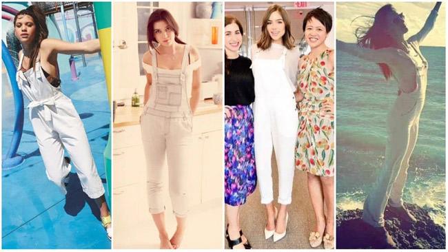 Những kiểu mặc đẹp với quần yếm - hình ảnh 7