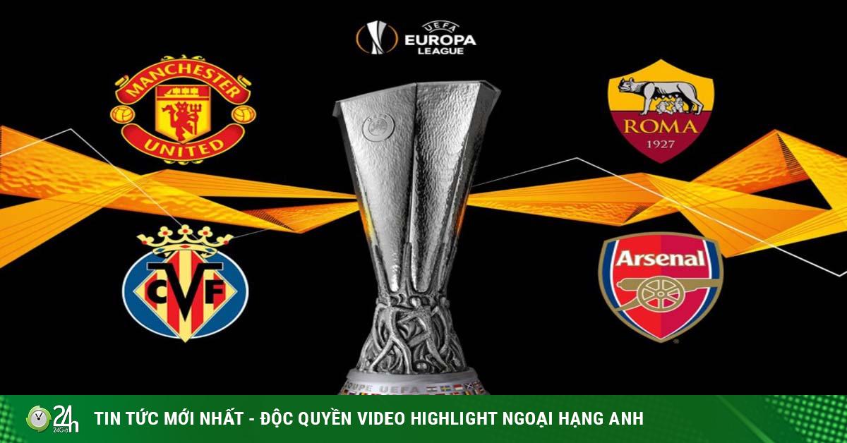 4 anh hào bán kết Europa League: MU - Arsenal mơ tái hiện chung kết toàn Anh