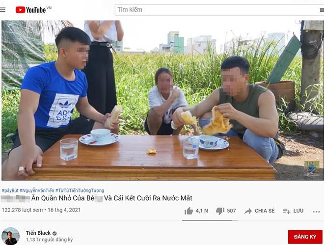"""Kênh YouTube Tiến Black bị lên án vì video """"ăn trứng chiên kèm quần nhỏ phụ nữ"""" - hình ảnh 2"""