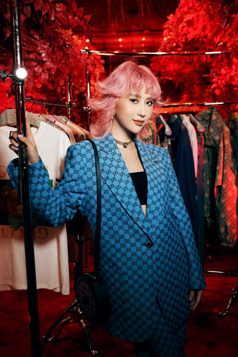 Amee hoá tiểu thư đài các trong sự kiện ra mắt bộ sưu tập mới của Gucci - hình ảnh 3