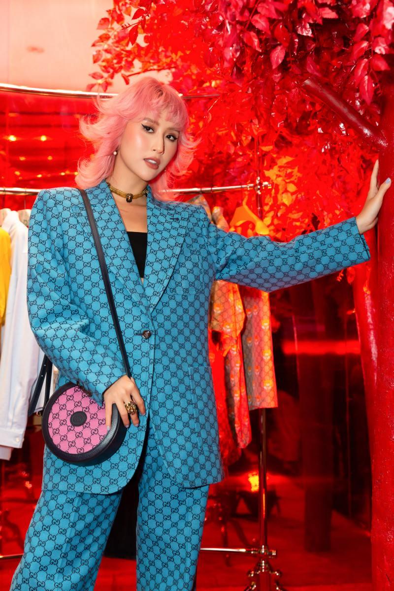 Amee hoá tiểu thư đài các trong sự kiện ra mắt bộ sưu tập mới của Gucci - hình ảnh 4