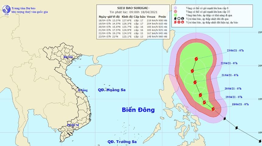 Siêu bão Surigae rất nguy hiểm, đề phòng đổi hướng ảnh hưởng tới Biển Đông - hình ảnh 1