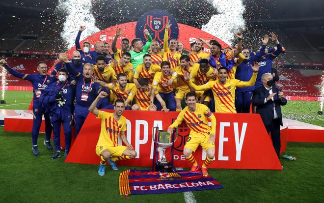 Messi lập cú đúp siêu tốc cho Barca, vô địch Cúp Nhà Vua theo cách đặc biệt - 1