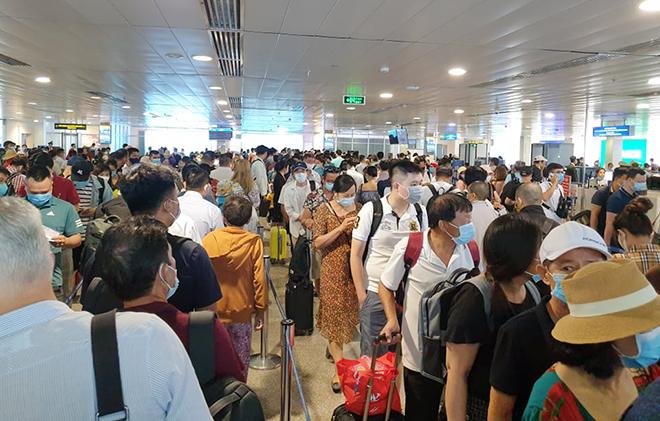 """Cả nghìn người """"rồng rắn"""" xếp hàng ở sân bay Tân Sơn Nhất: ACV nói gì? - hình ảnh 2"""