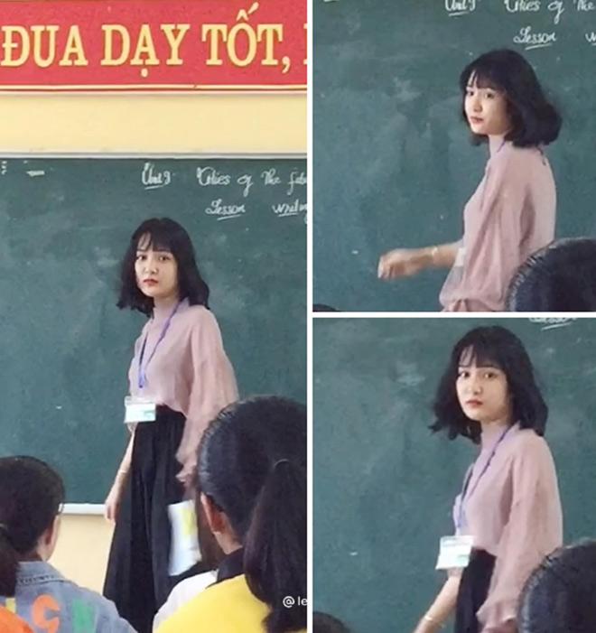 Bị học sinh chụp lén, cô giáo Thanh Hoá nổi tiếng bất thình lình vì quá xinh - 1
