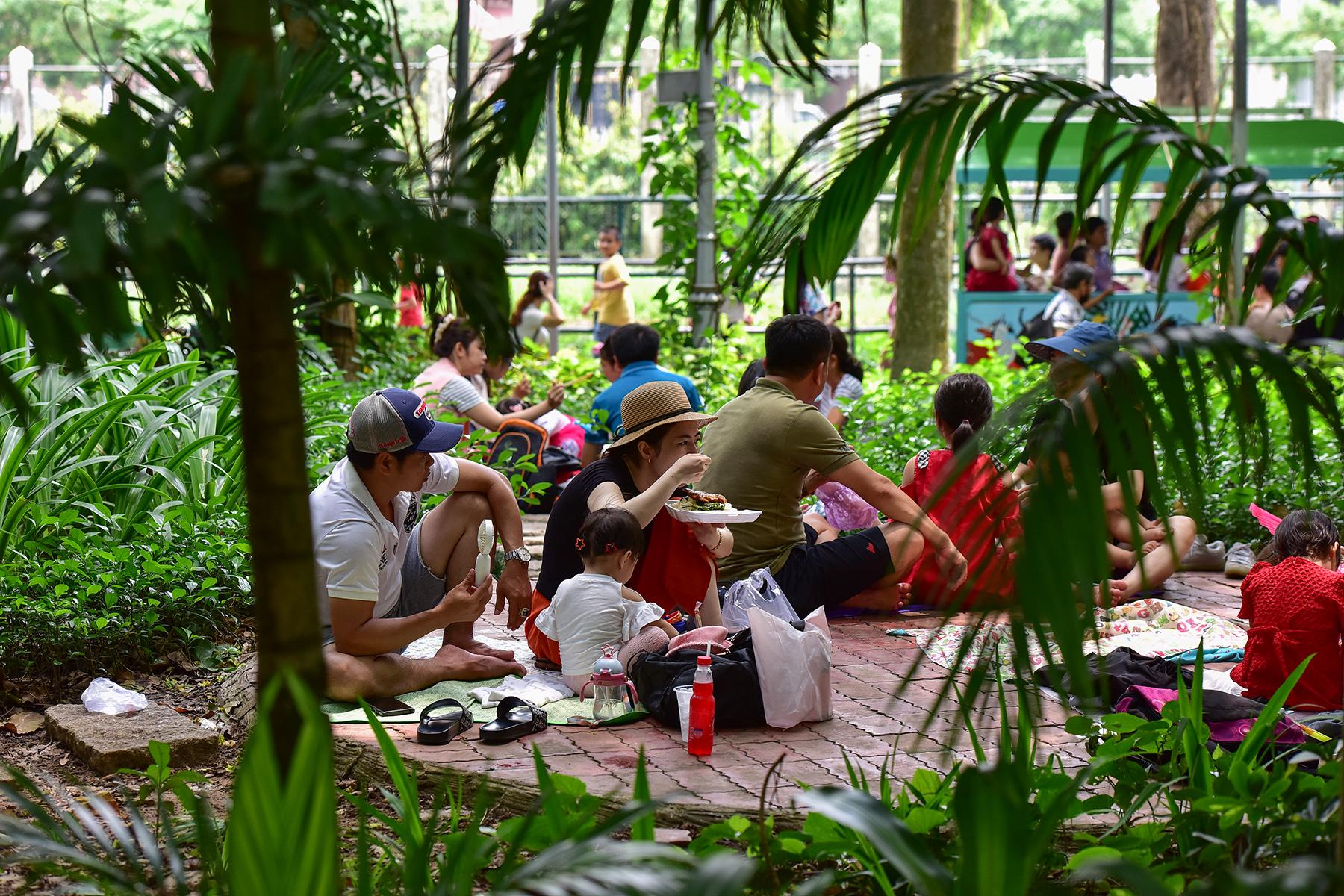 Người dân ùn ùn đi chơi lễ, toát mồ hôi chờ mua vé vào cổng Thảo Cầm Viên - hình ảnh 16