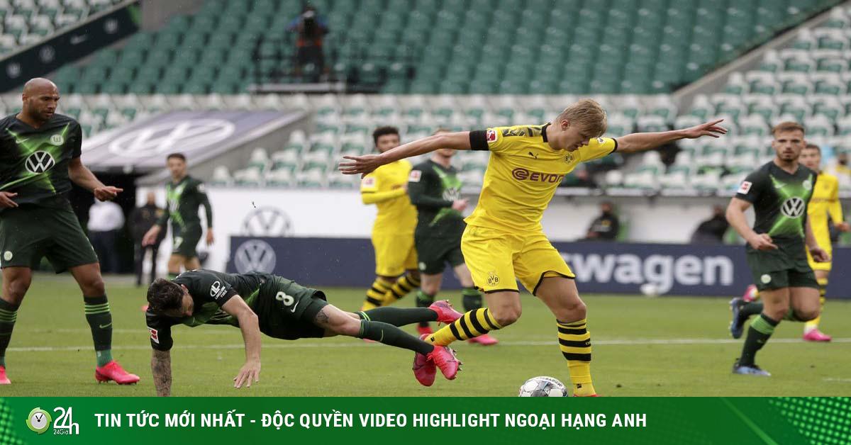 Video Wolfsburg - Dortmund: Haaland lập cú đúp, níu giữ hy vọng top 4