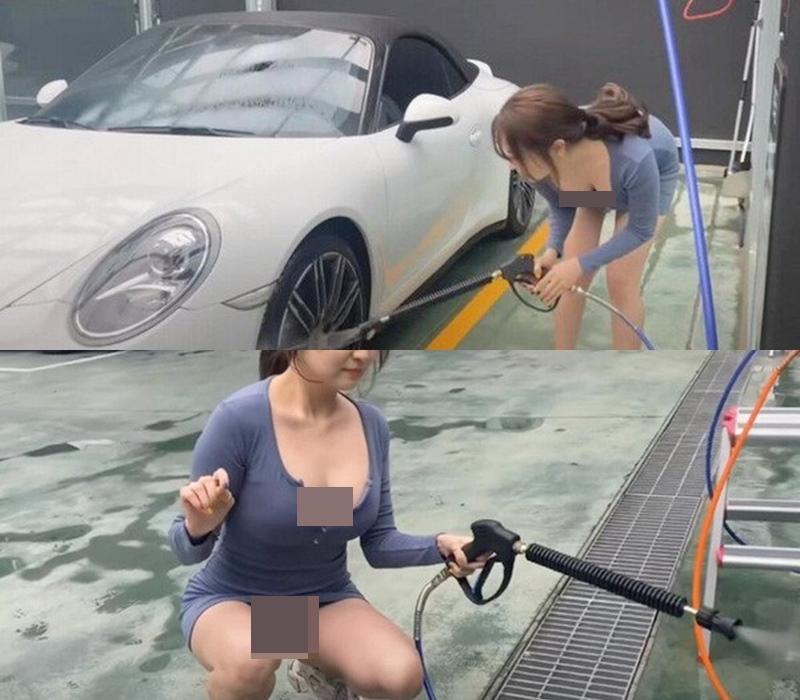 """""""Nữ nhân viên công sở hot nhất Hàn Quốc"""" mặc bốc lửa rửa xe: Trào lưu """"bẩn"""" trá hình? - hình ảnh 3"""
