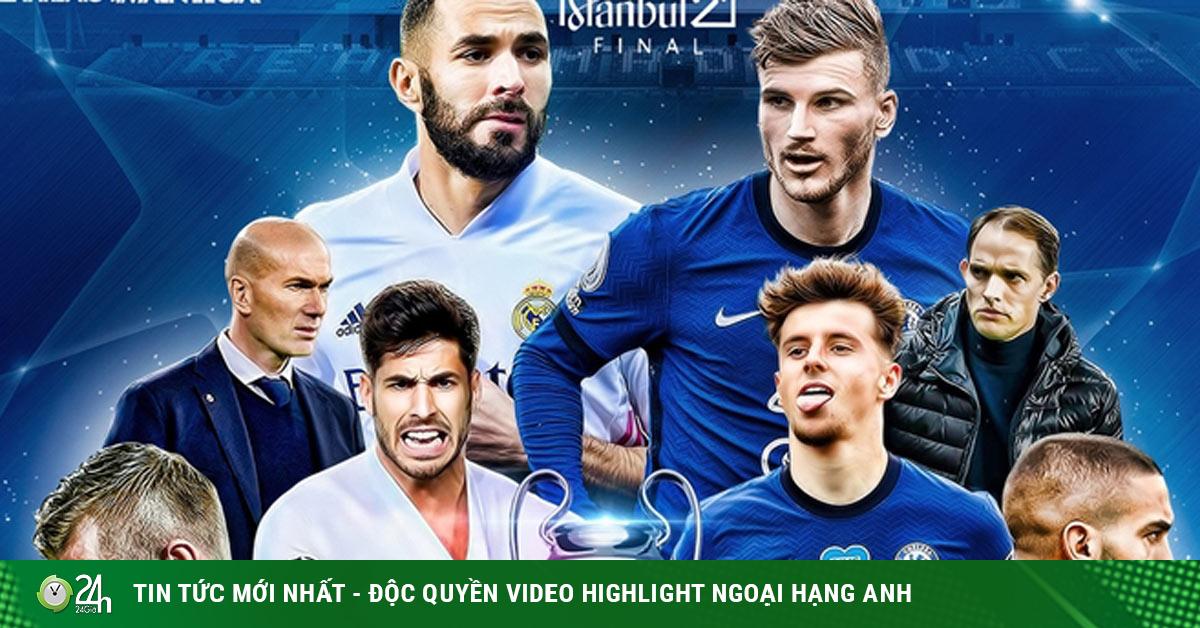Trực tiếp bóng đá Real Madrid - Chelsea: Zidane âu lo hàng công đội chủ nhà