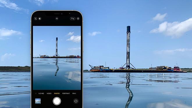 iFan choáng với khả năng quay chụp tàu vũ trụ của iPhone 12 Pro - 1