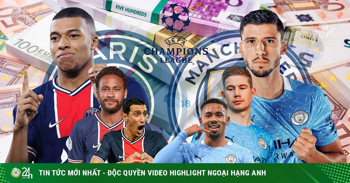 Trực tiếp bóng đá PSG - Man City: Nhà giàu đại chiến nảy lửa