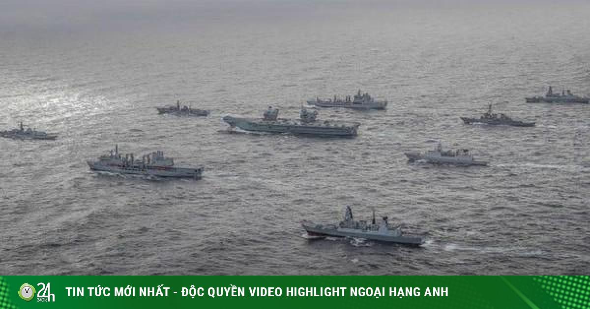 Nhóm tàu sân bay tấn công đa quốc gia do tàu Anh dẫn đầu sẽ vào biển Đông