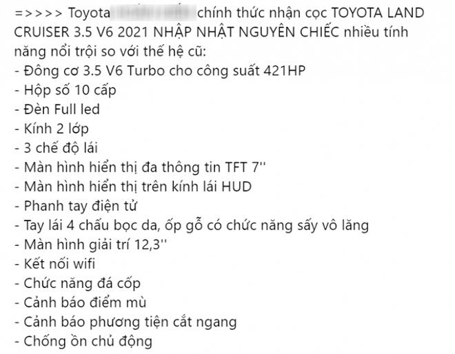 Toyota Việt Nam nhận cọc xe SUV cỡ lớn Land Cruiser với số lượng hạn chế - 3