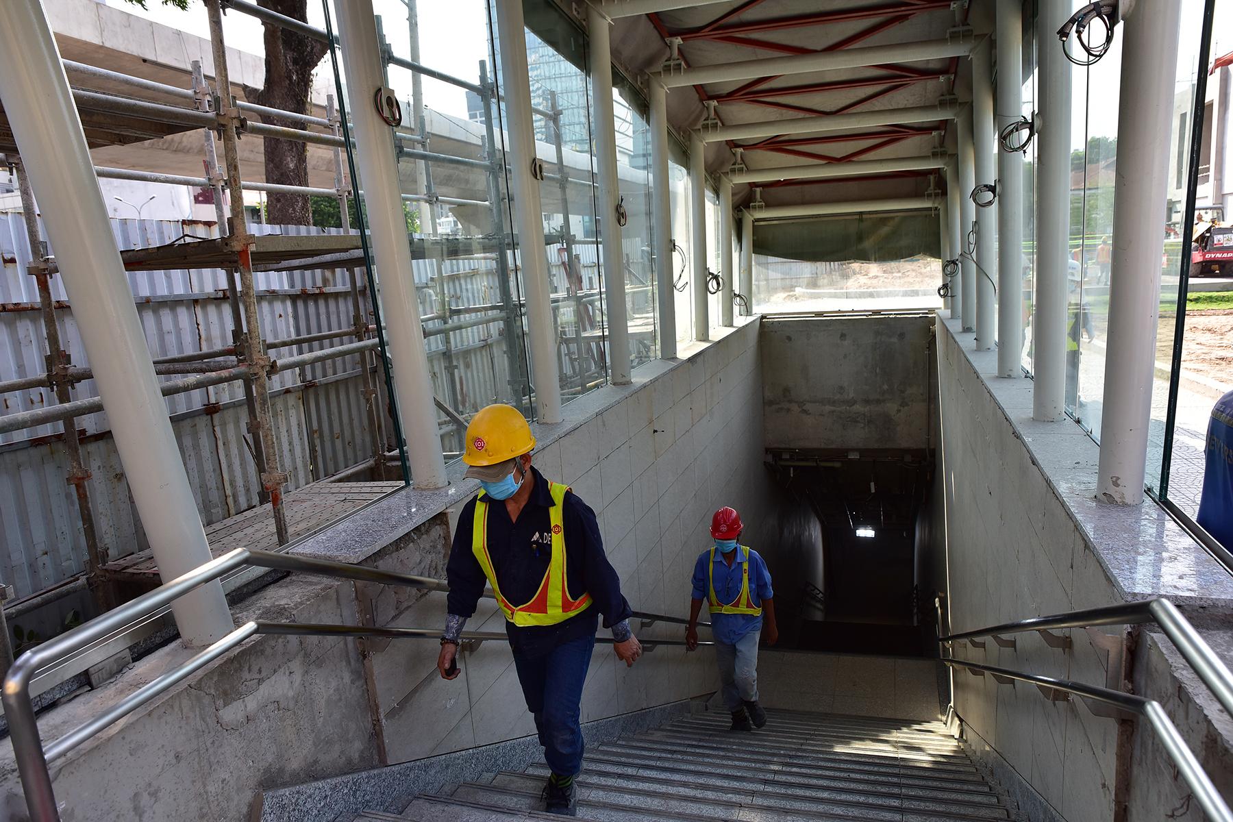 Hình ảnh ga Ba Son nằm sâu dưới lòng đất của tuyến metro số 1 - 1