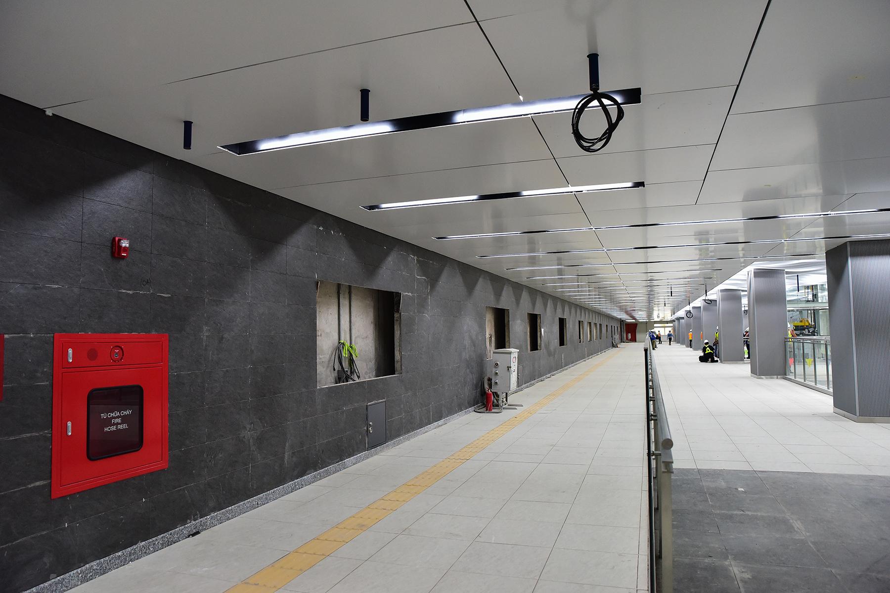 Hình ảnh ga Ba Son nằm sâu dưới lòng đất của tuyến metro số 1 - 10