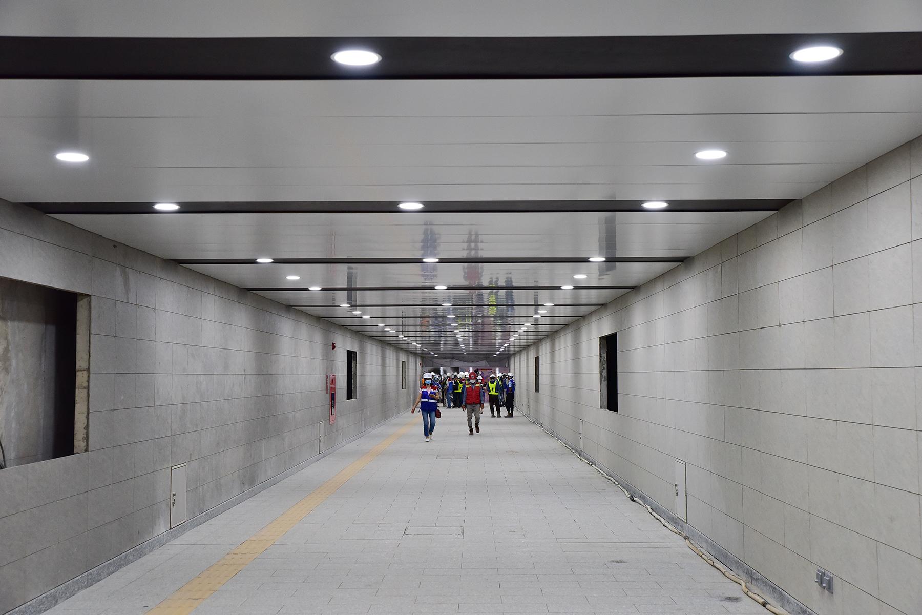 Hình ảnh ga Ba Son nằm sâu dưới lòng đất của tuyến metro số 1 - 2