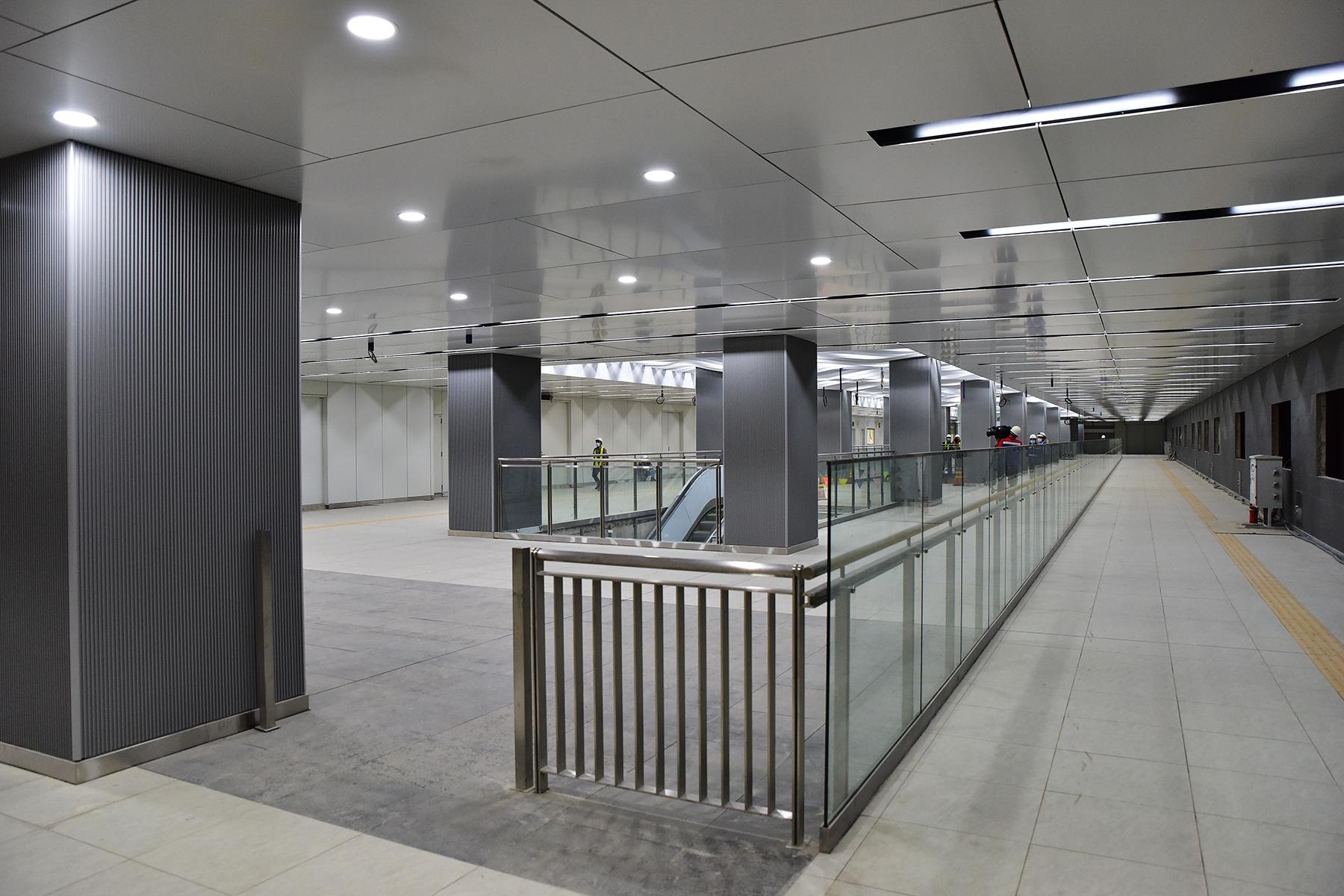 Hình ảnh ga Ba Son nằm sâu dưới lòng đất của tuyến metro số 1 - 4