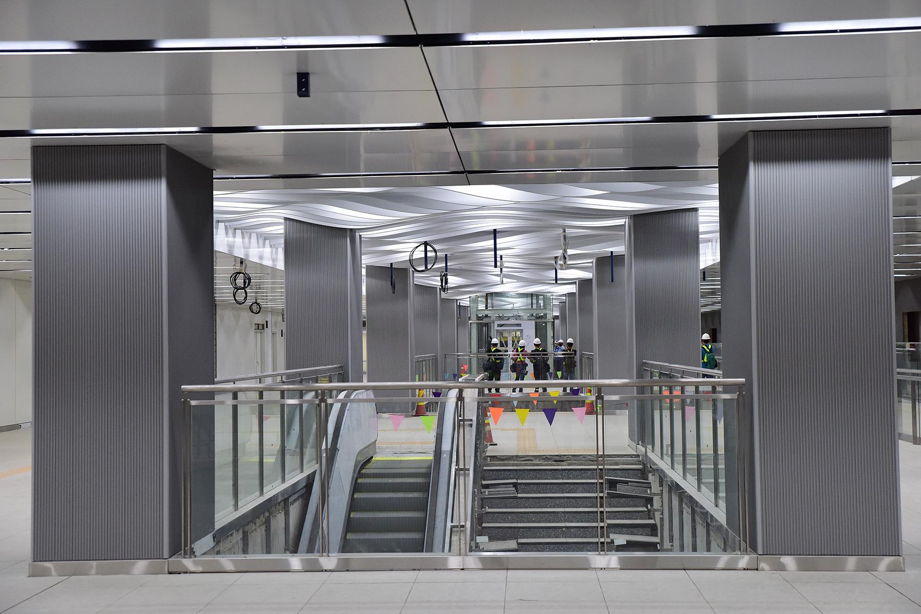 Hình ảnh ga Ba Son nằm sâu dưới lòng đất của tuyến metro số 1 - 6