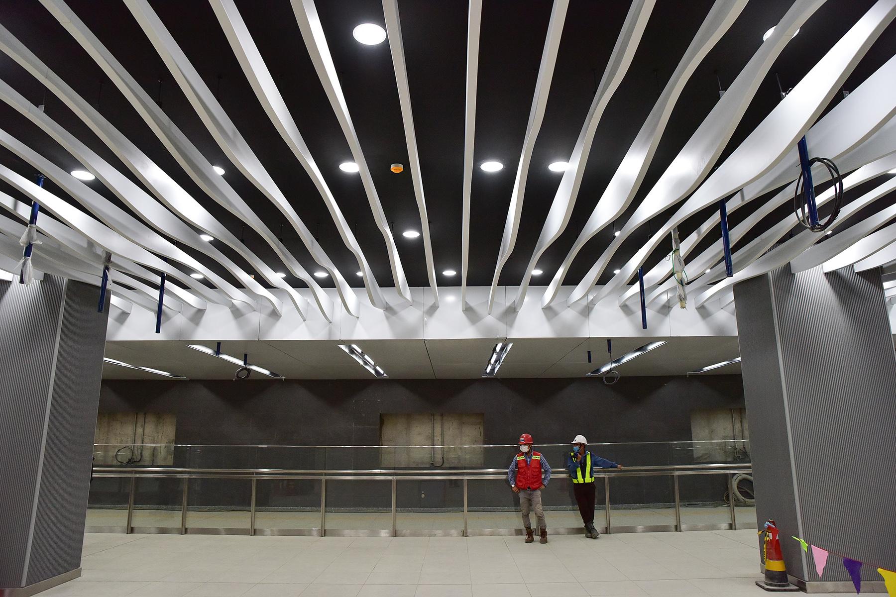 Hình ảnh ga Ba Son nằm sâu dưới lòng đất của tuyến metro số 1 - 9